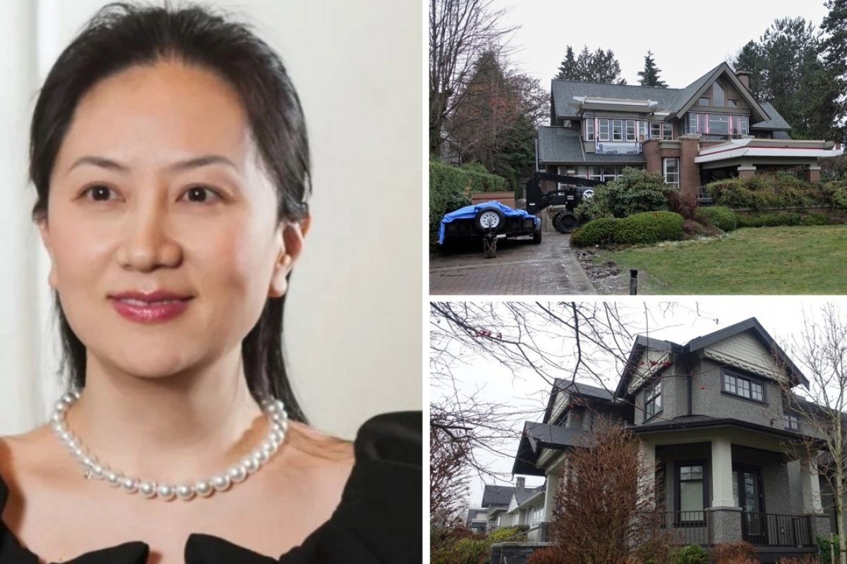 Huawei CFO Sabrina Meng Wanzhou and her two Vancouver homes, which are in the name of husband Liu Xiaozong. The homes in the expensive neighbourhoods of Shaughnessy (top right) and Dunbar (bottom right) are worth C$16.3 million and C$5.6 million respectively.