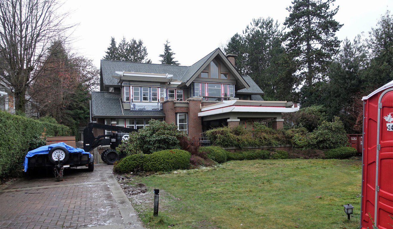 Sabrina Meng Wanzhou's mansion on Matthews Avenue, Vancouver, is worth US$16.3 million. It is undergoing extensive renovations and appears to be vacant.