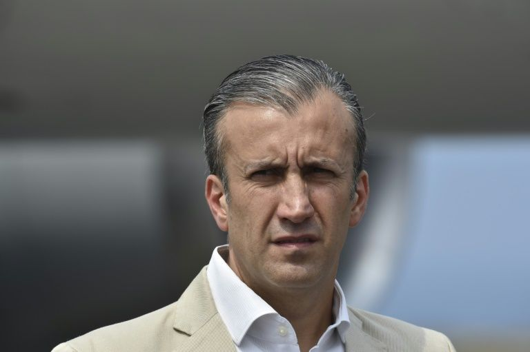 Venezuelan industry minister and former vice president Tareck El Aissami was charged with drug trafficking in March. (AFP/YURI CORTEZ)