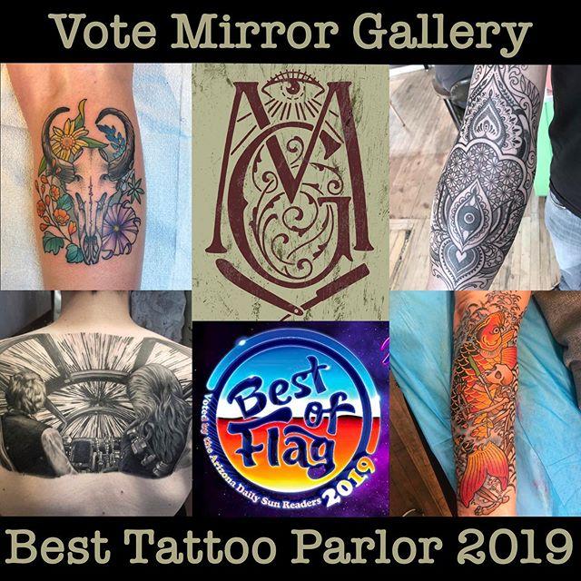 Best of Flag voting link in @mirrorgalleryflagstaff bio!  #bestofflagstaff2019 #flagstafftattoos #downtownflagstaff #aztattooer #nau