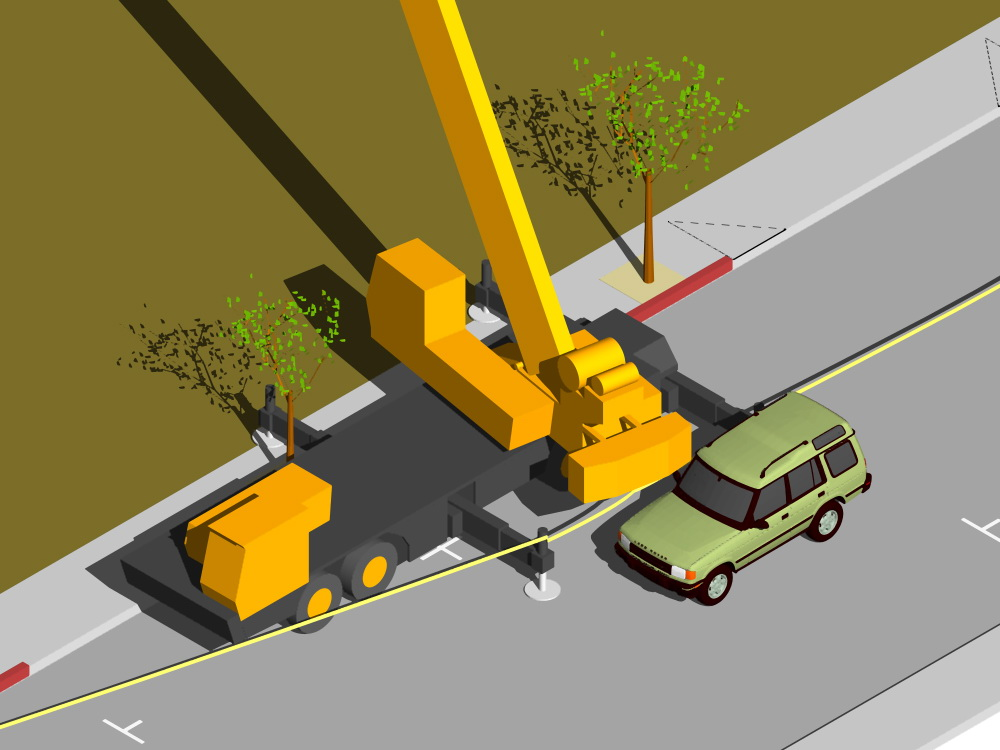 accident scenario rendering