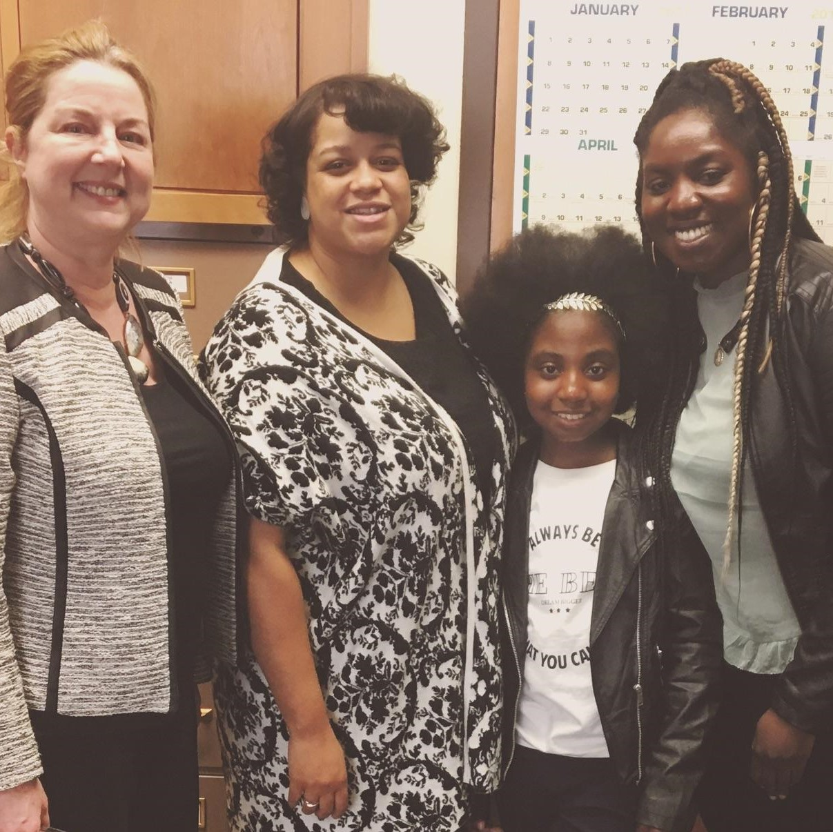Pictured (left to right) ADA Advocate, Donna Drumm, Esq., NY Assemblywoman Michaelle C. Solages, Assembly District 22, Dream Shepherd of DreamsLaw, Diana Lemon - Dream's Mother & Activist Extraordinaire!