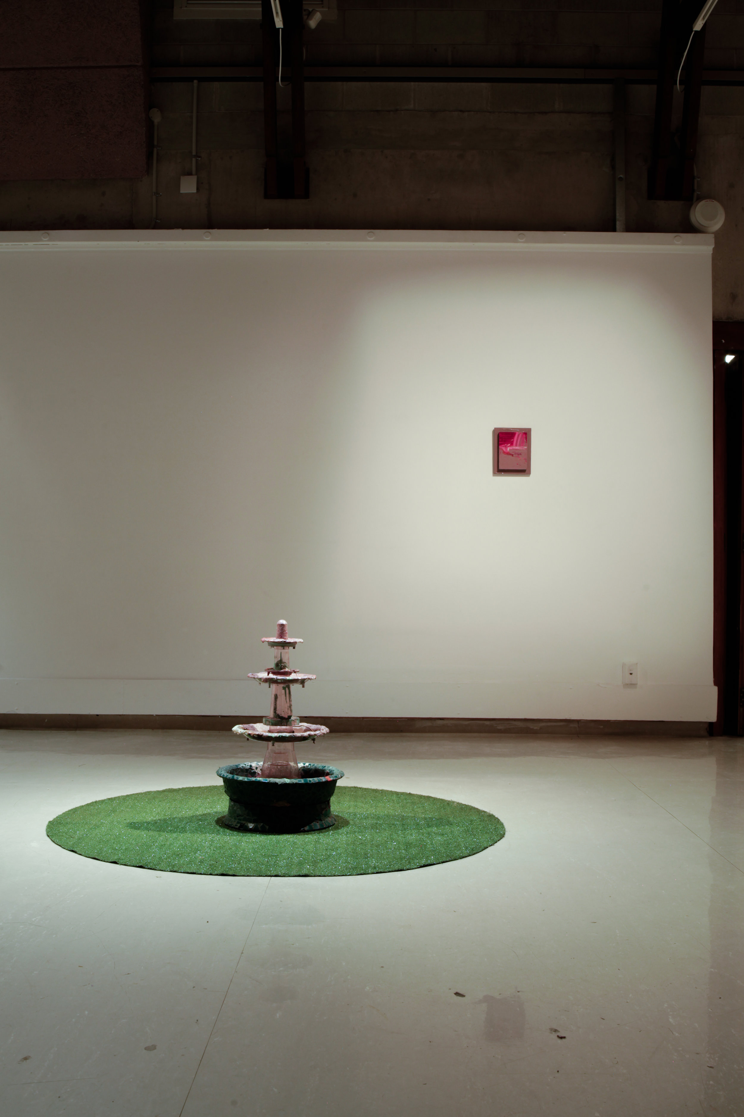 Install shot of   Double Dribble    at Ilam Gallery .  Featuring   Heavy Breather 2     and   3-2 Zone.       Photo credit: Lucinda Webber.