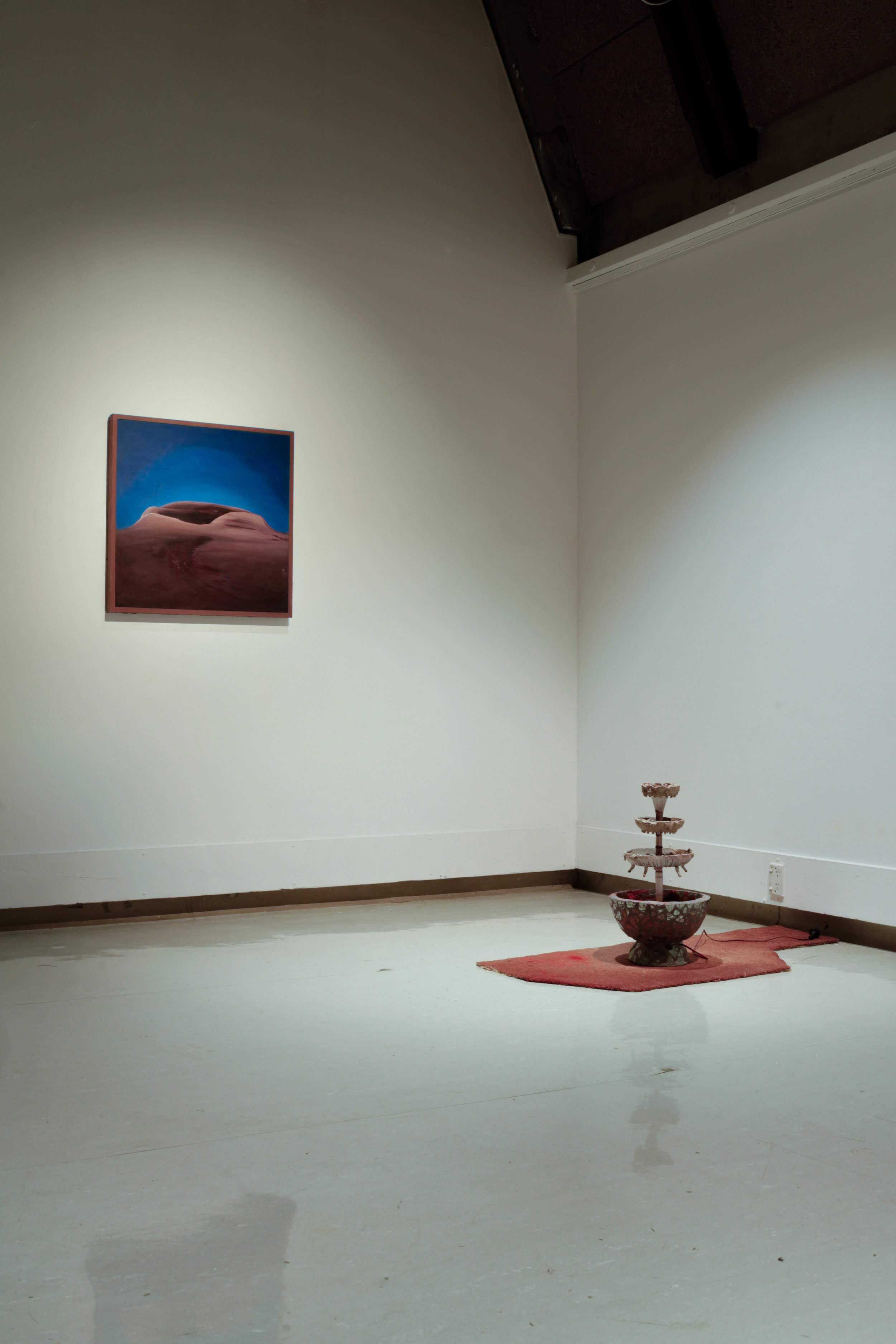 Install shot of   Double Dribble   at Ilam Gallery .  Featuring   Heavy Breather     and   Alley-oop.       Photo credit: Lucinda Webber.