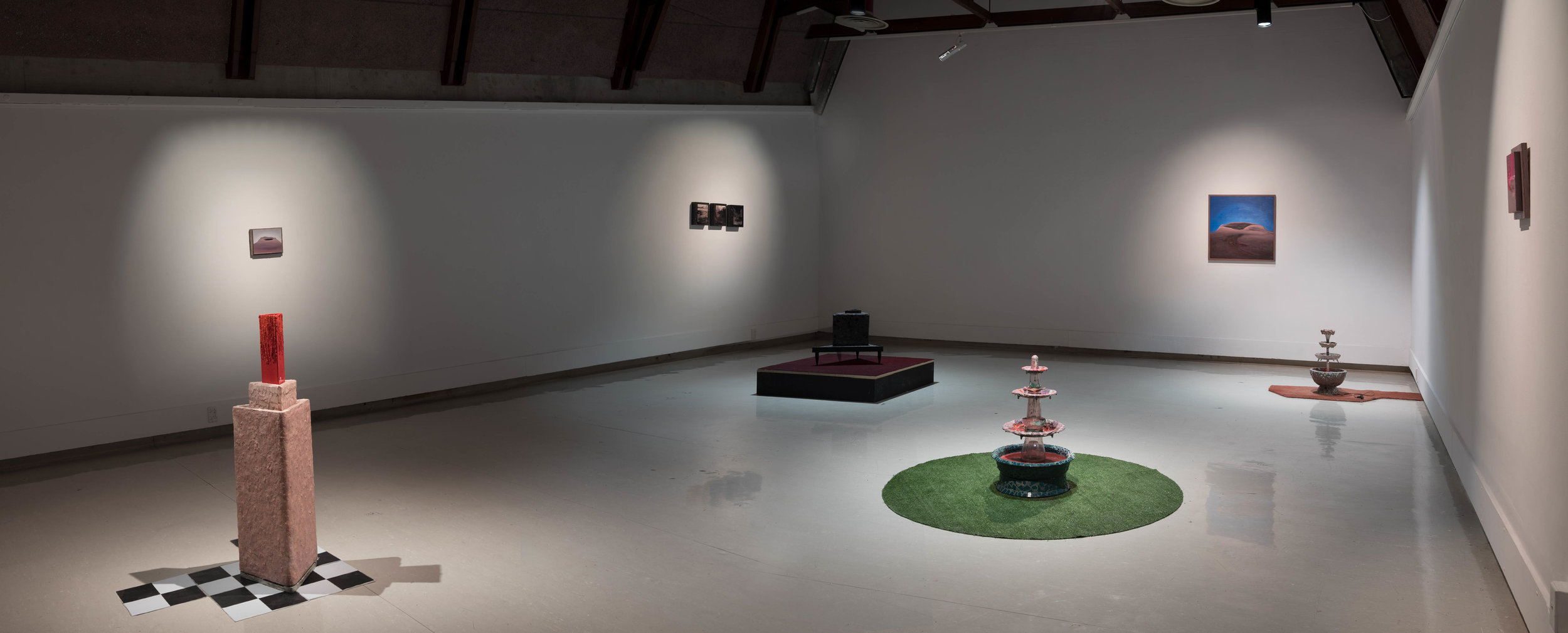 Install shot of   Double Dribble     at Ilam Campus Gallery  Photo credit: Lucinda Webber