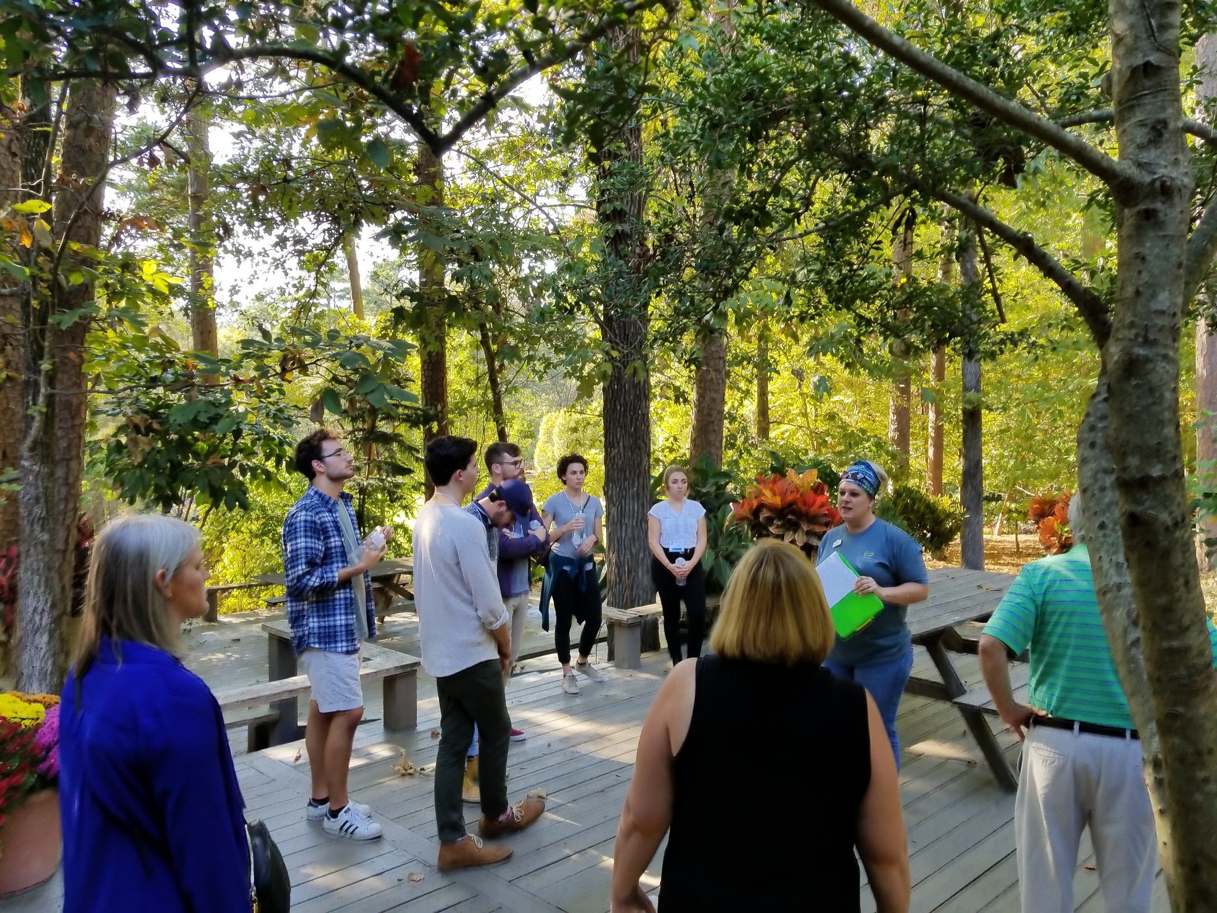 Students enjoying Garvan Woodland Gardens