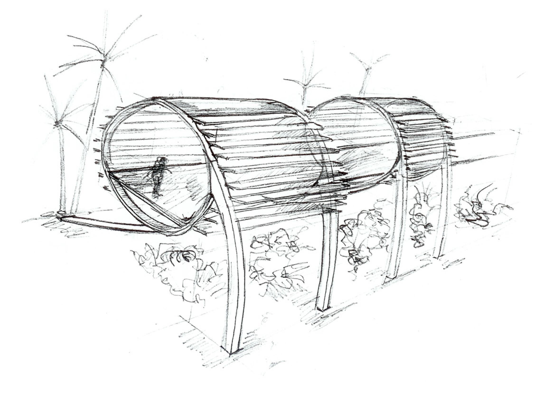 Iguana Ecolodge Sketch | Architectural Design Process