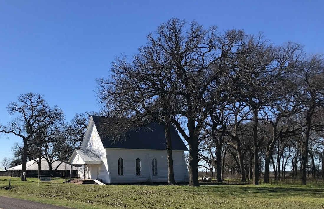 WHITE CHURCH IN FIELD.JPG