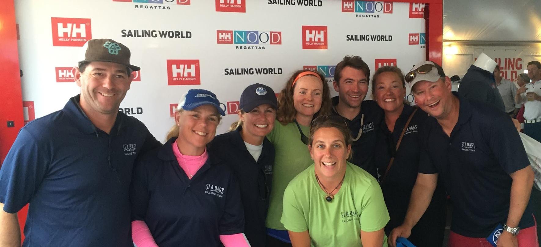 Right to left: Michael McAllister, Erica Beck Spencer, Hillary Nobel, Jess Harris, Molly White, Andrew Gibbons, Charlotte Kinkade, Carter White