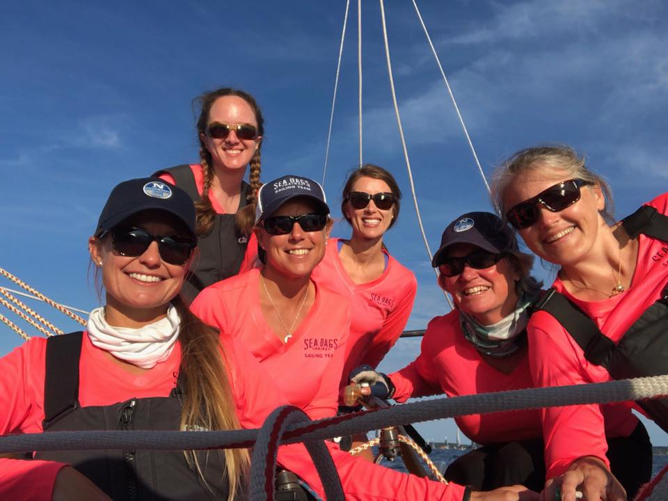 Sailing for Sustainability - Sea Bags Women's Sailing Team is among a growing number of sailors worldwide who are bringing greater attention to the importance of saving our oceans and protecting our environment. Wherever the Sea Bags Women's Sailing Team races it also raises awareness of Sea Bags' Sail Trade Program. Through the program, individuals can donate their sails in exchange for Sea Bags' product. Sails can also be donated through the Sea Bags Women's Sailing Team to help support them on their journey.