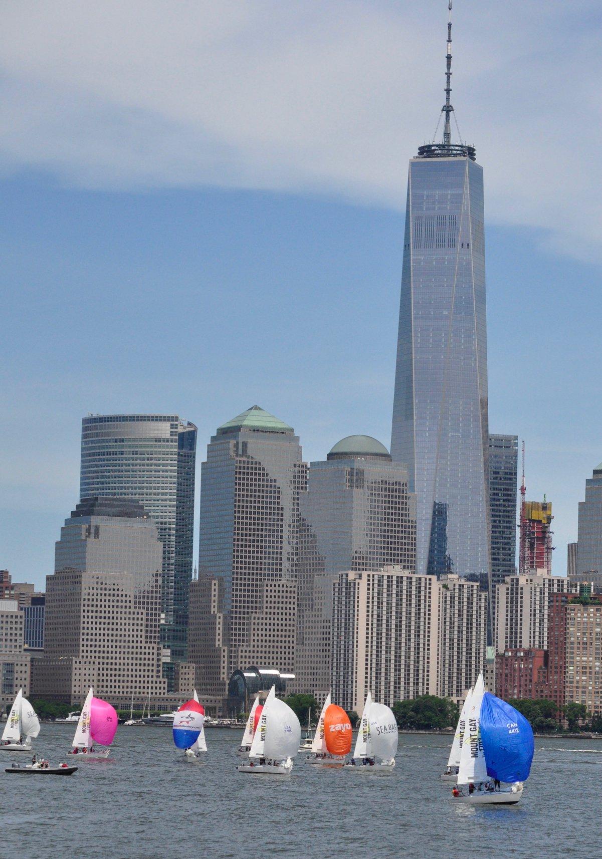J_24s racing near the Manhattan skyline during the Lady Liberty Regatta.jpg