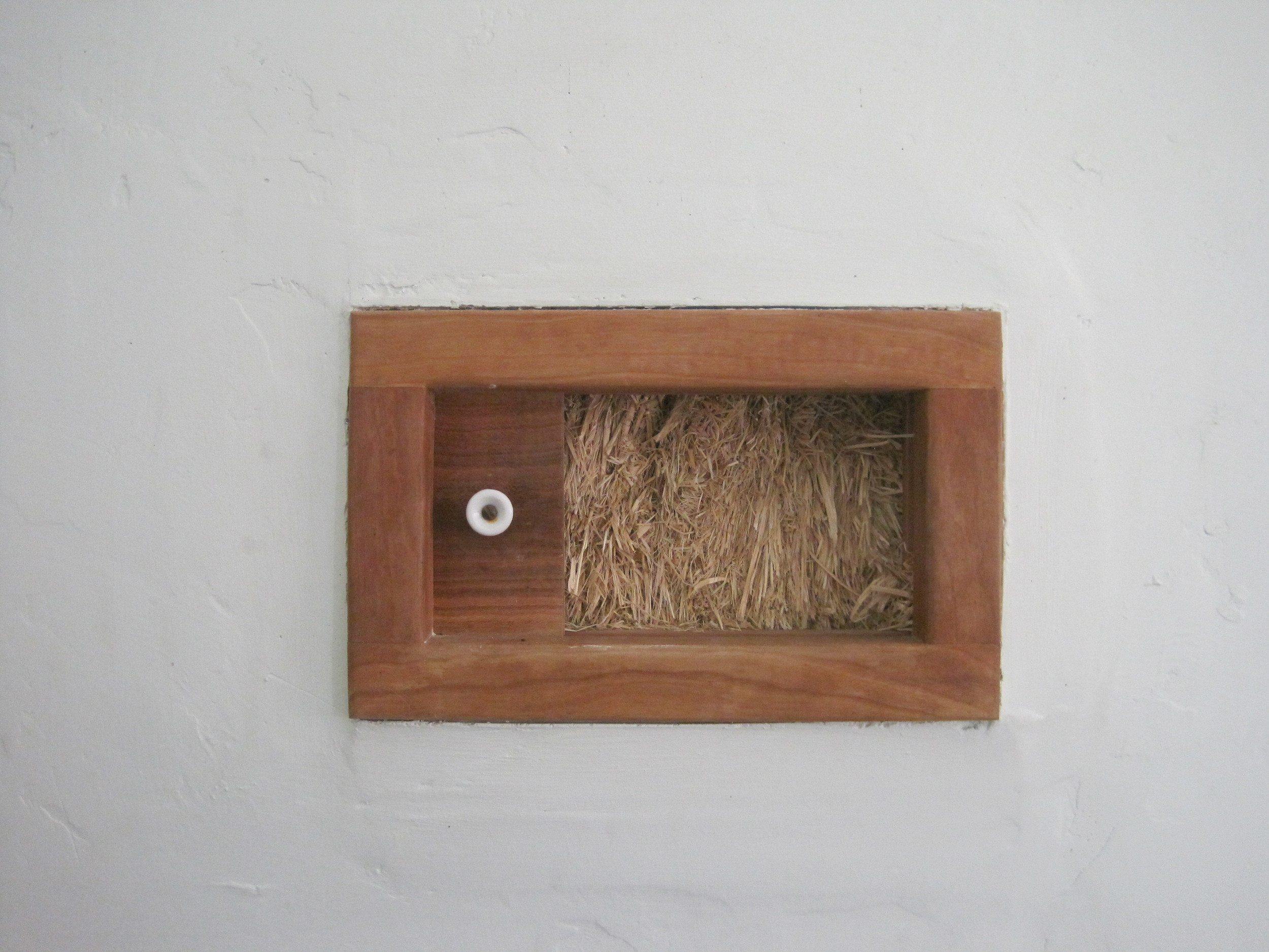 Truth window in the Straw Bale walls