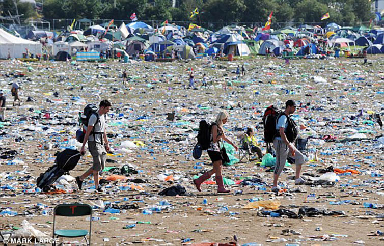 Music Festival Impact - Total yearly carbon emission output from all festivals within the U.K. comes to 21,800 U.S. tons.All U.K. festival waste adds up to 26,000 U.S. tons.