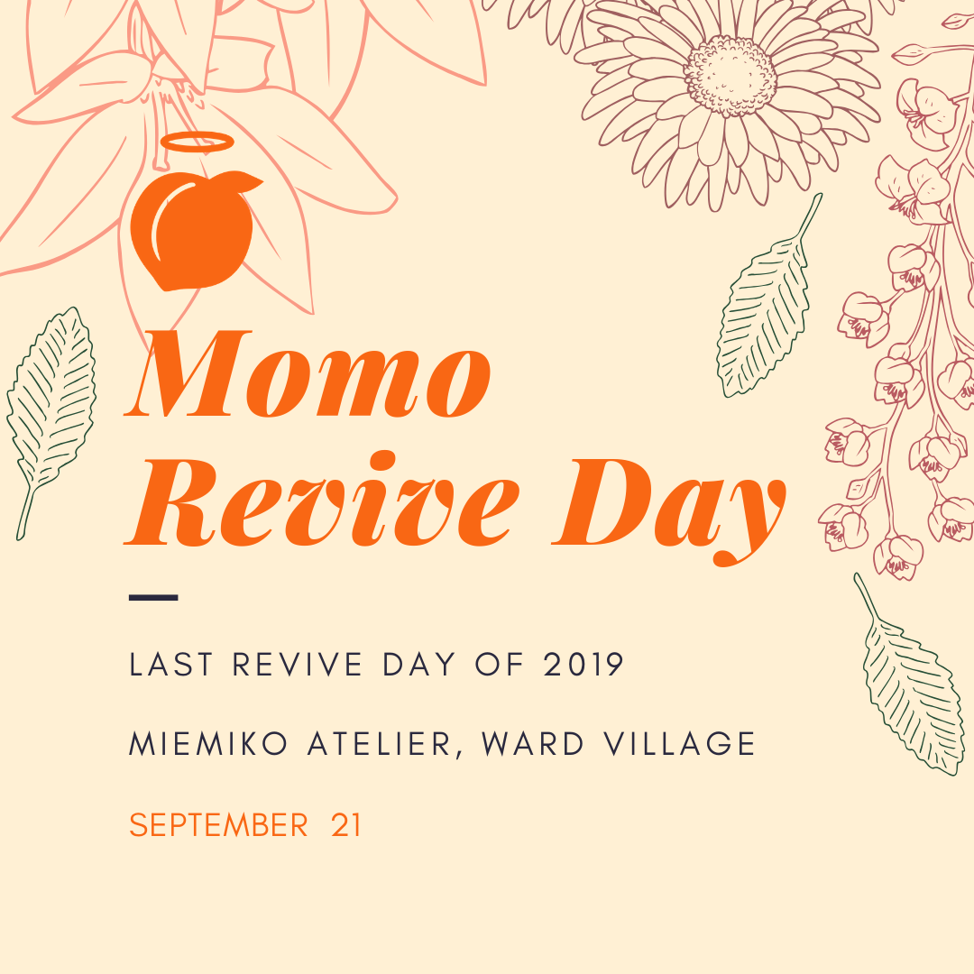 #revivethemomo - Join us for our Fall Momo Revive Event hosted by our friend's at Miemiko Atelier!