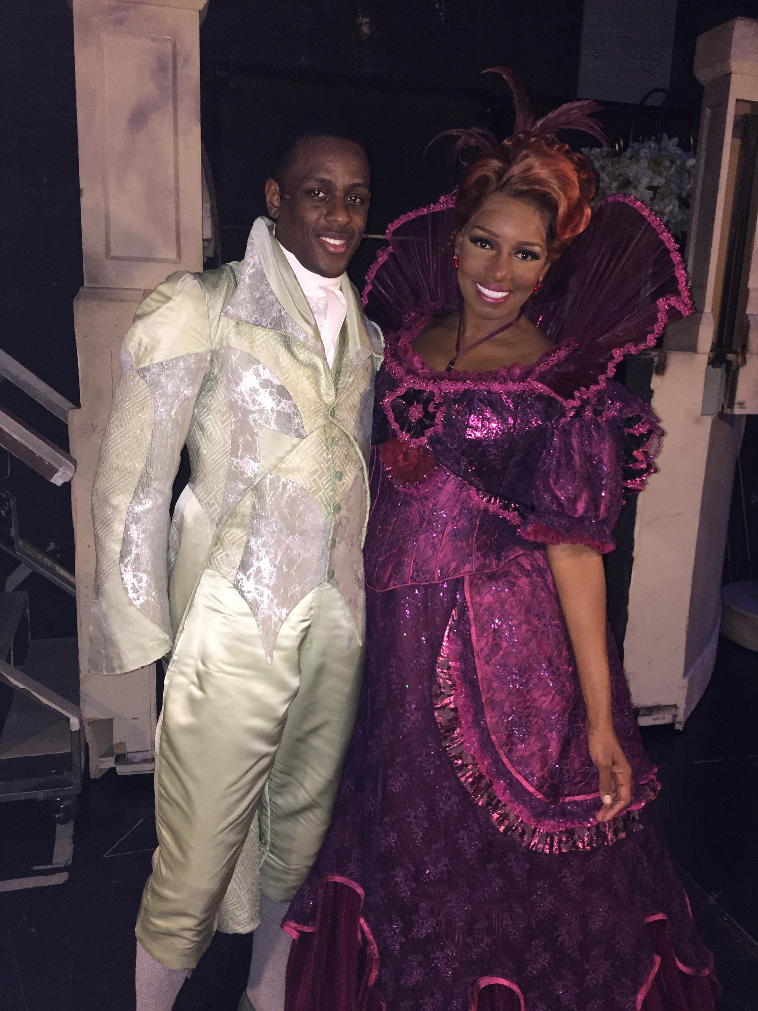Darius with reality TV and sitcom star, Nene Leakes