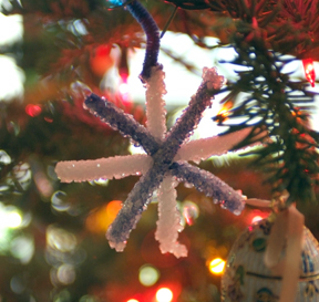 borax crystal holiday ornament