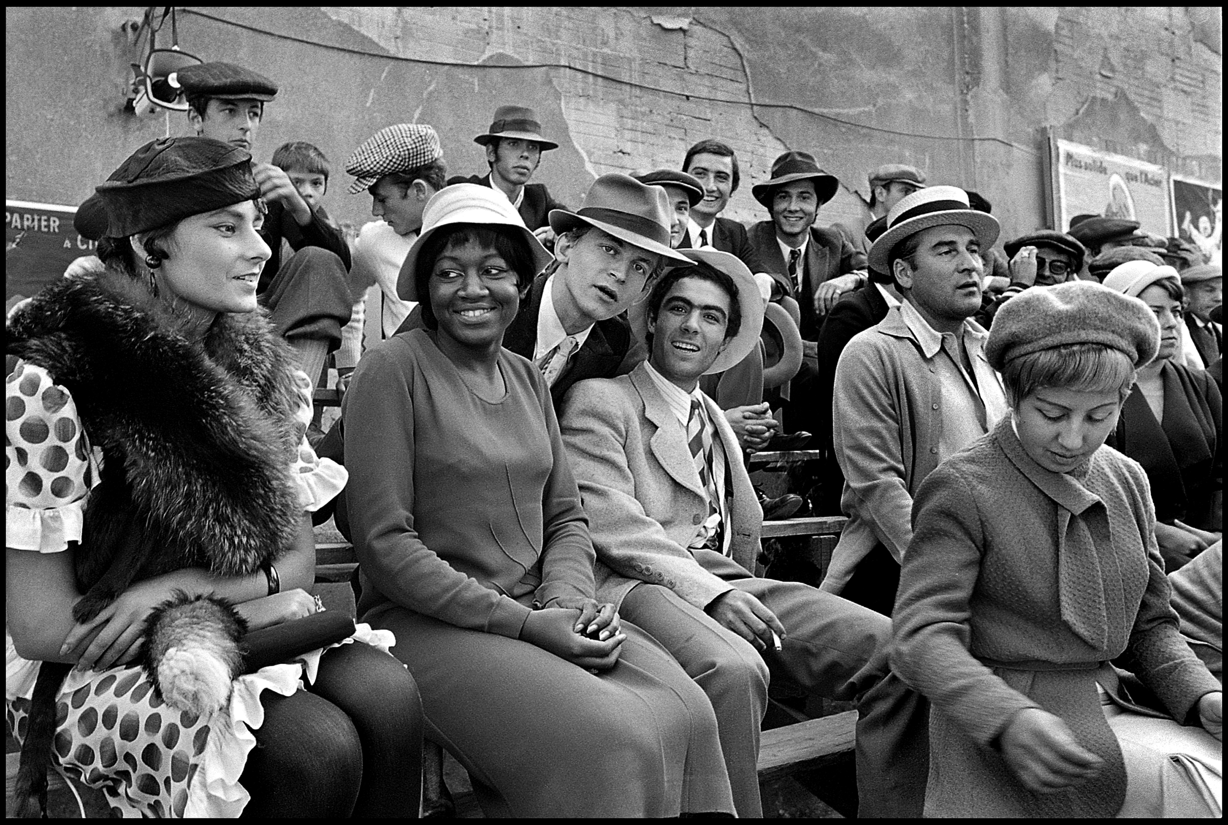 Film extras, Borsalino film set, Mareilles 1970    Photo by Frank Habicht