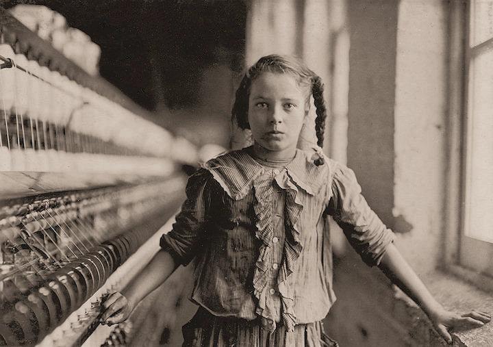 Lewis Hine's Bibb Girl No 1