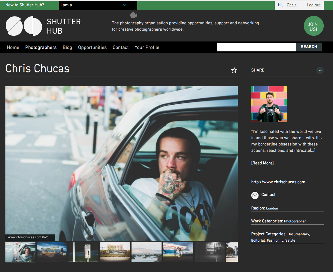 Chris Chucas on Shutterhub