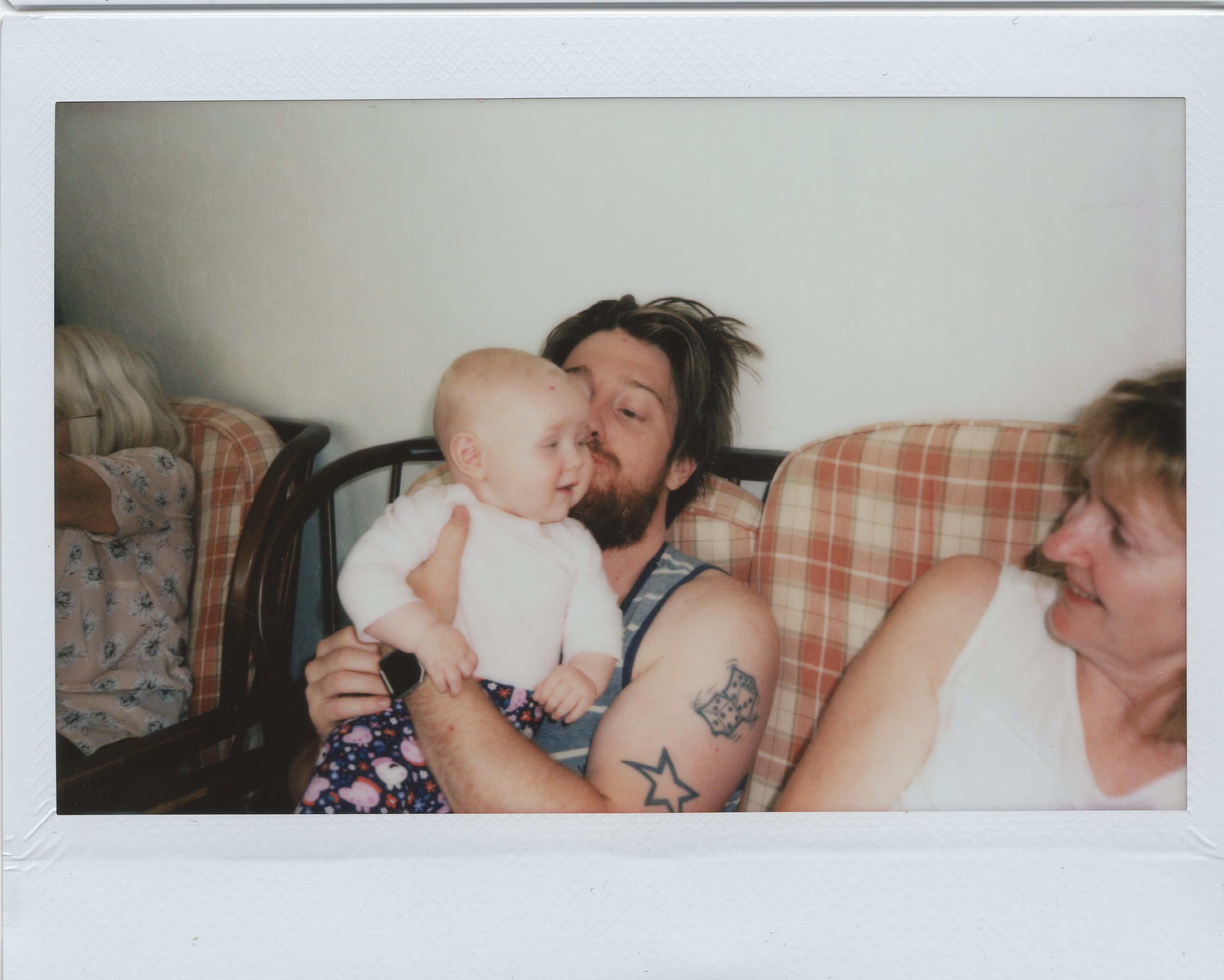 A Poloroid of me and my niece after my wedding.