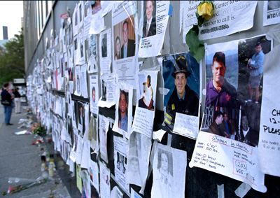 Missing, Bronston Jones 2001 NYU Medical Center Wall