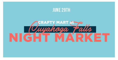 First Craft Show! - I am attending my first ever Craft Show and I could not be more excited! Crafty Mart is an amazing resource for Vendors to be apart of a creative community and to share our work. I will selling original watercolors of Cleveland and fun home decor. Please come out to the first ever night market on June 29th. Cant wait to see you there!