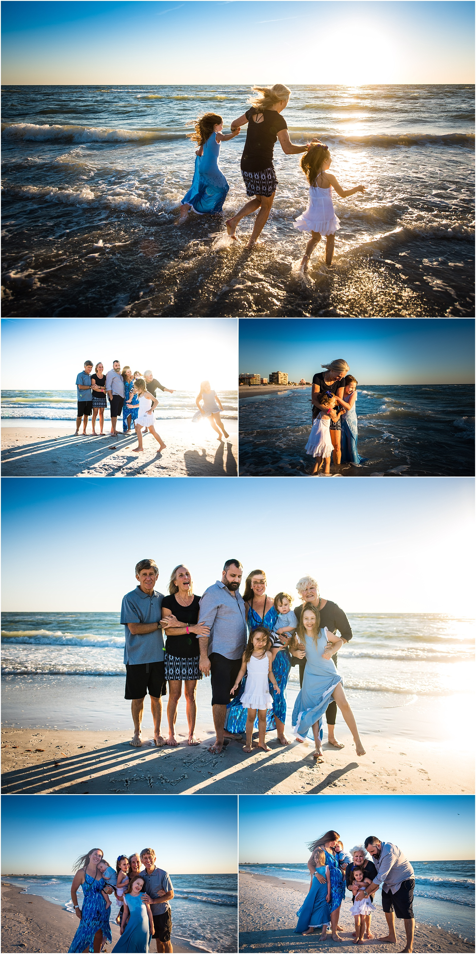 grandparents beach family photography maggie fuller photography extended family
