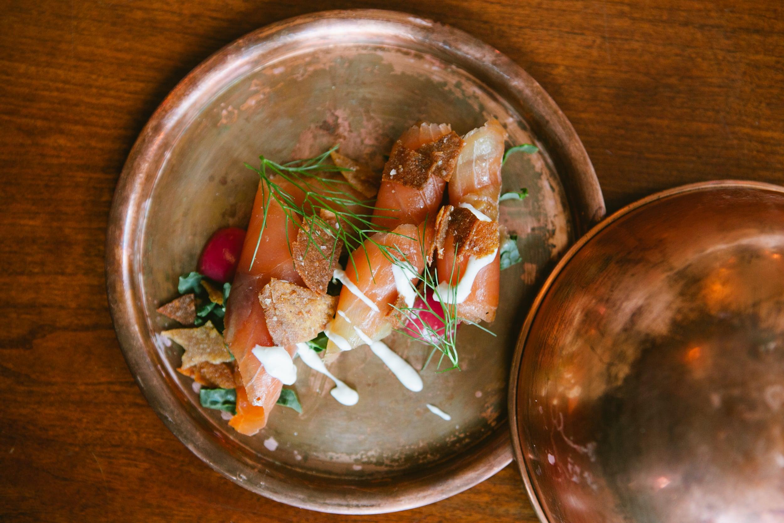 masala chai cured salmon