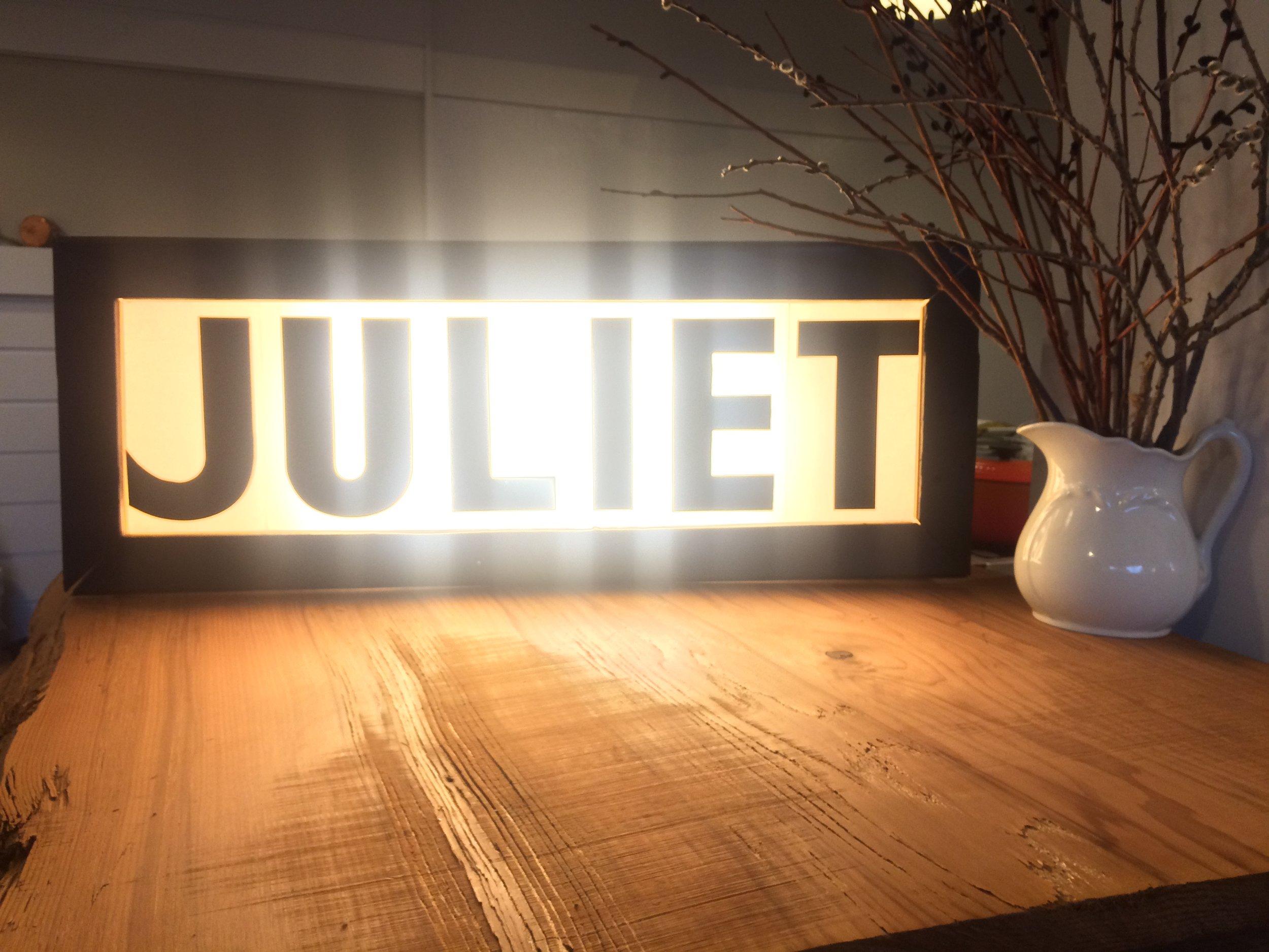Juliet Lightbox Sign .JPG