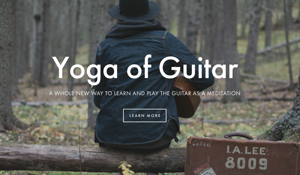 Yoga of Guitar online course is getting ready to launch