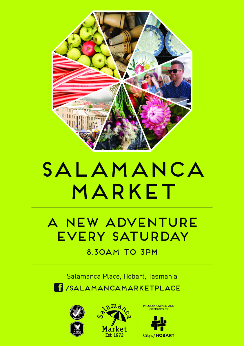 One of the most loved markets in the country, in the historic Salamanca Place of Hobart!