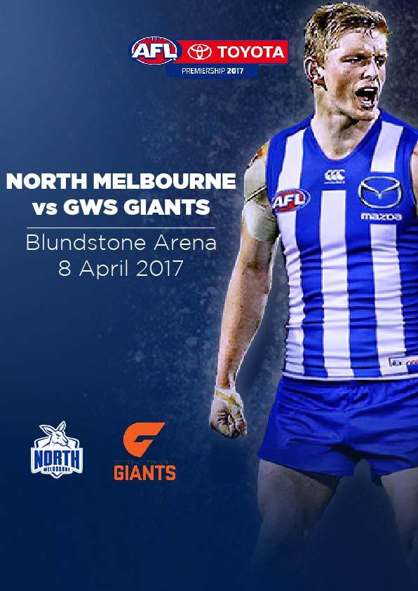 8 April, Hobart - North Melbourne vs GWS Giants
