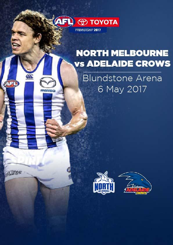 7 May, Hobart - North Melbourne vs Adelaide