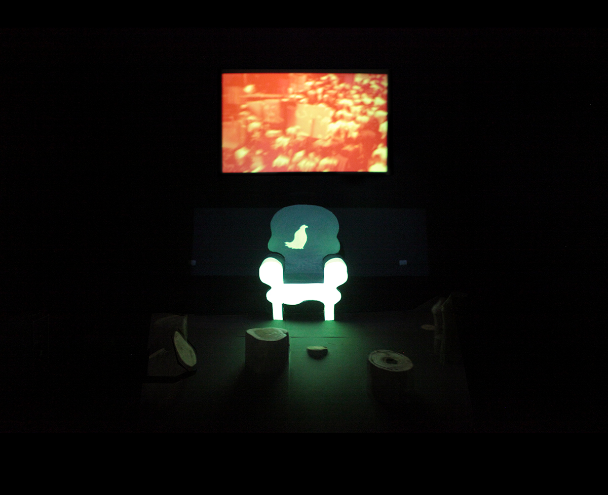 El Eterno Retorno del Error , 2015, instalación, medidas variables.