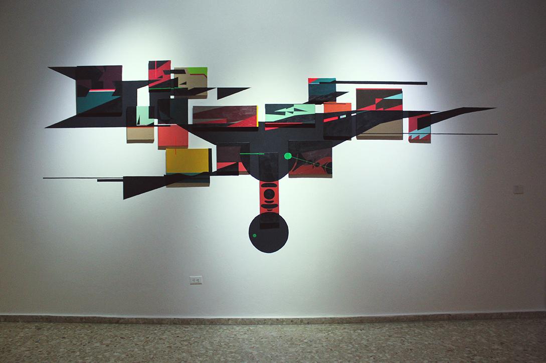 Extraña Apatía, acrílico y enamel sobre canvas, 2013