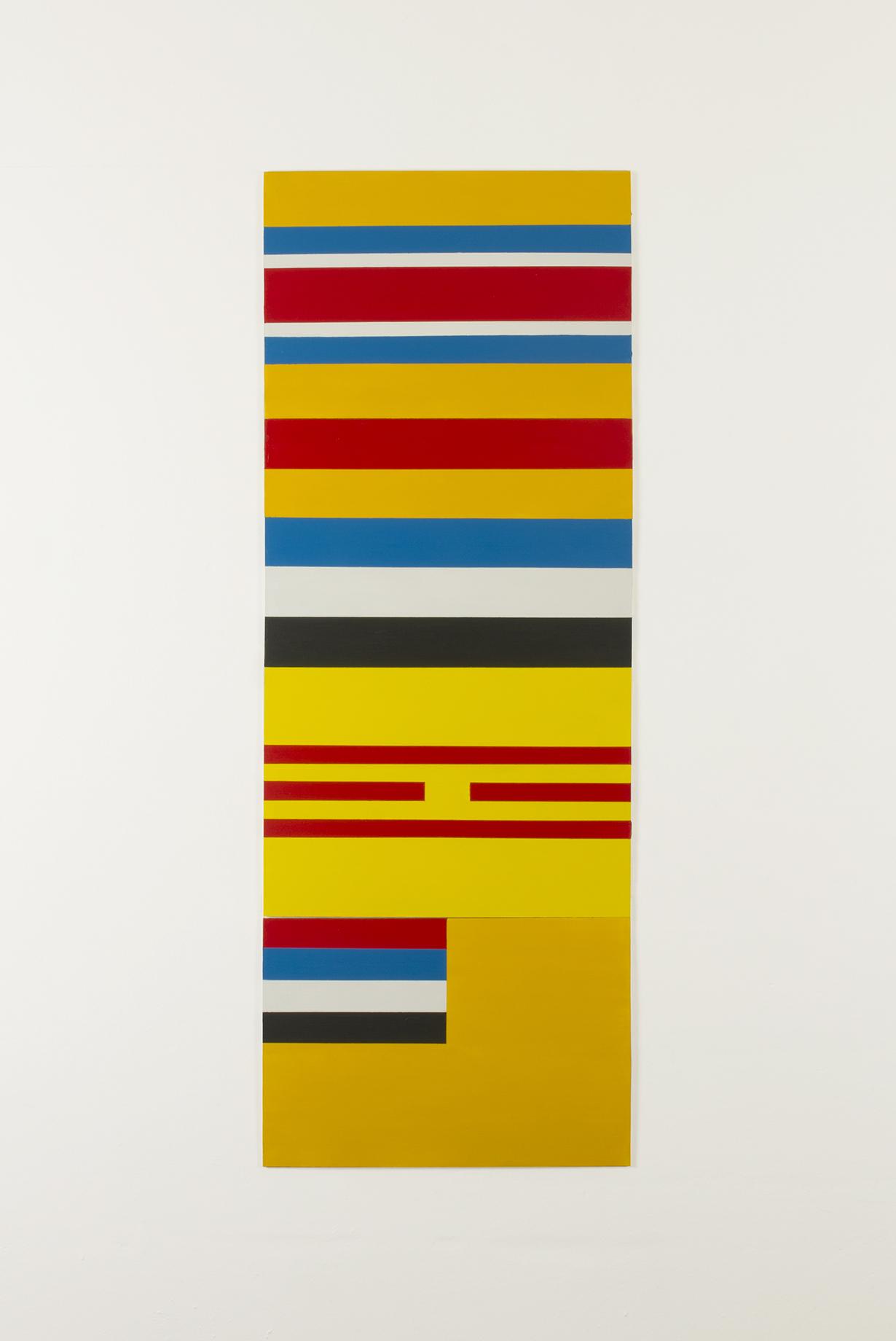 Composición geométrica-abstracta tomando como motivo banderas de países títeres del Japón en la 2ª Guerra Mundial , 2014