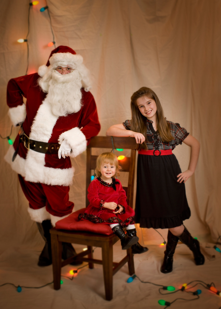 2009 featuring our oldest as Santa
