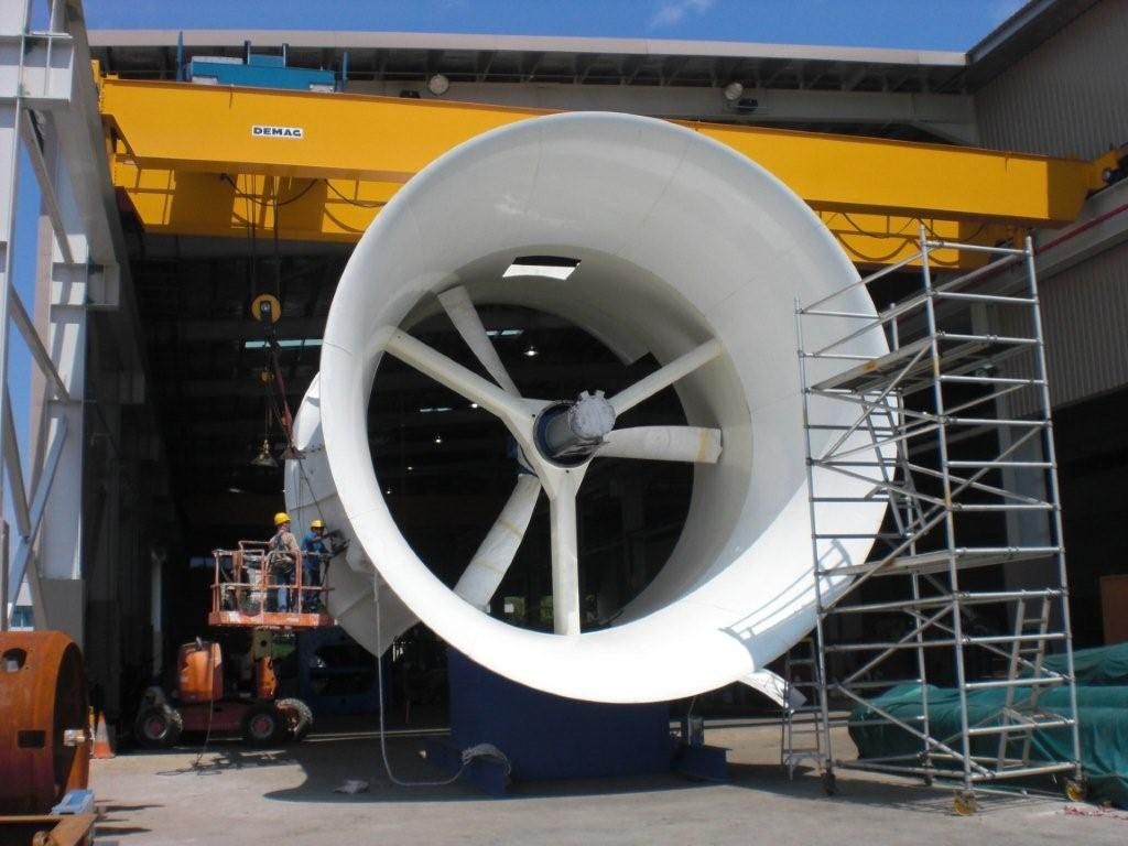 C&C Machined the oval stainless steel bushes used in this tidal turbine