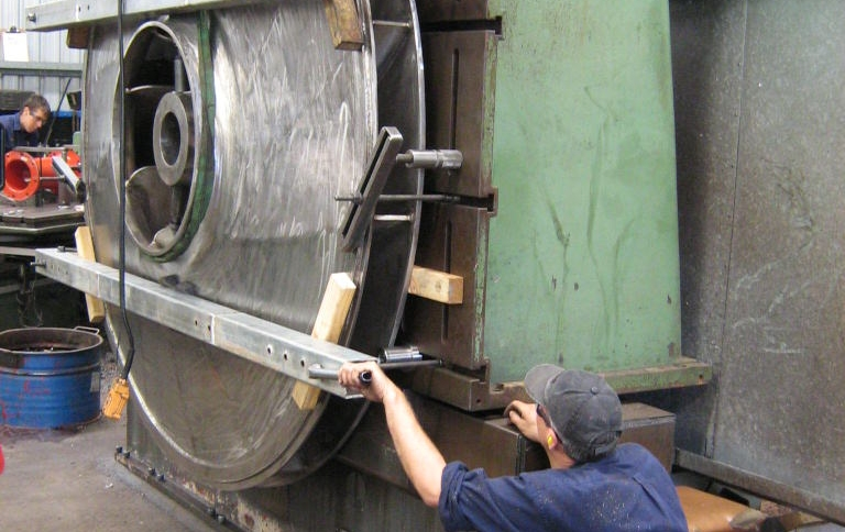 Machining a large impeller made from Duplex Stainless