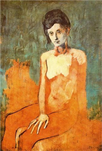 Picasso, Seated female nude - Rose Period