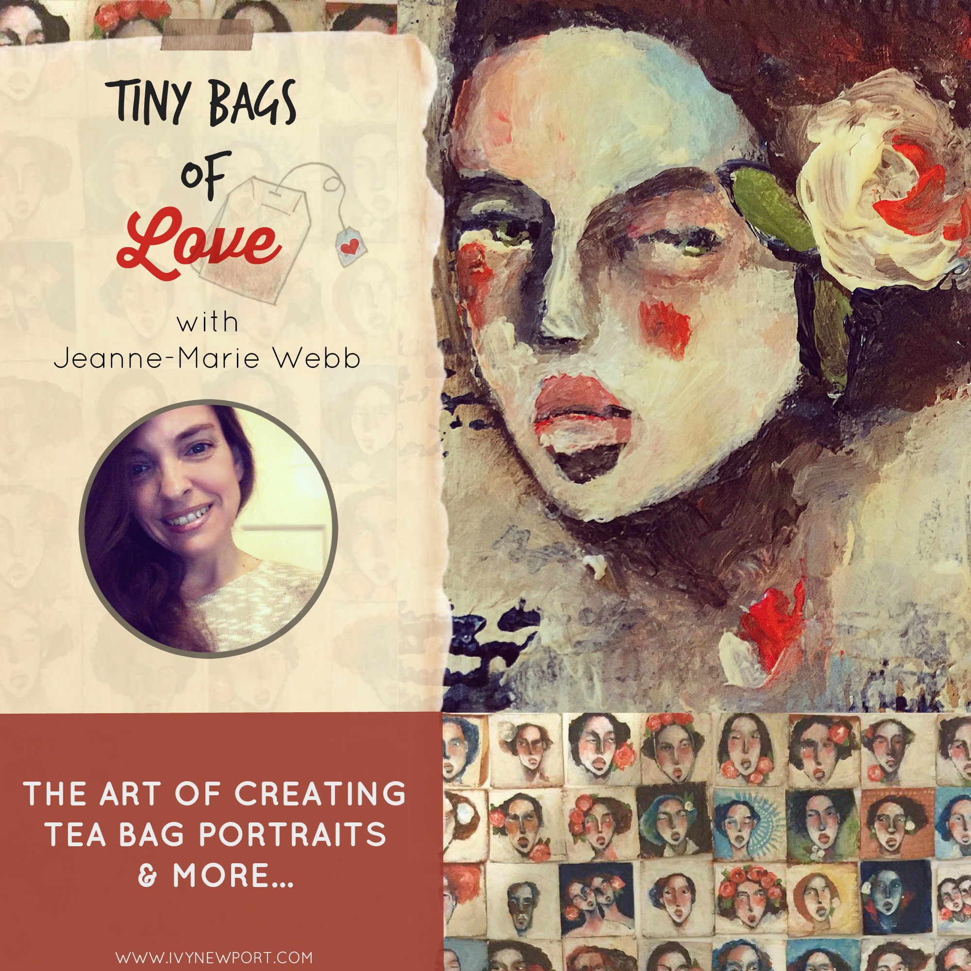 How to do tea bag painting, Jeanne-Marie Webb