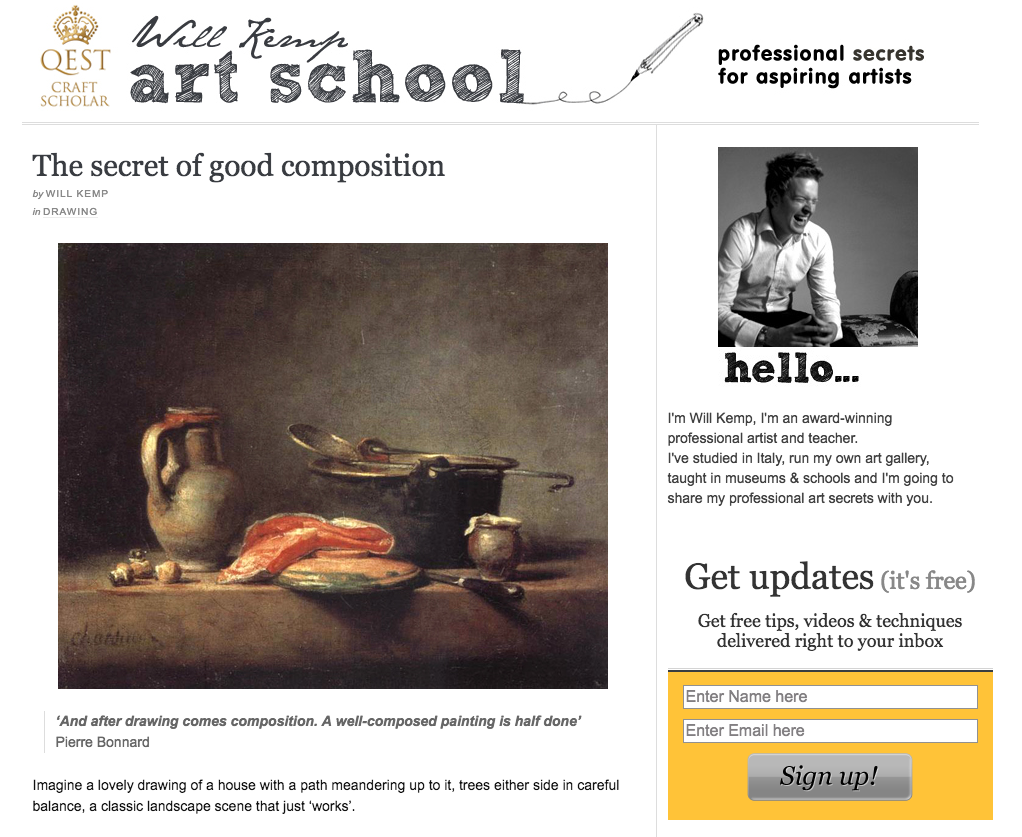 Great advice on composition from artist, Will Kem