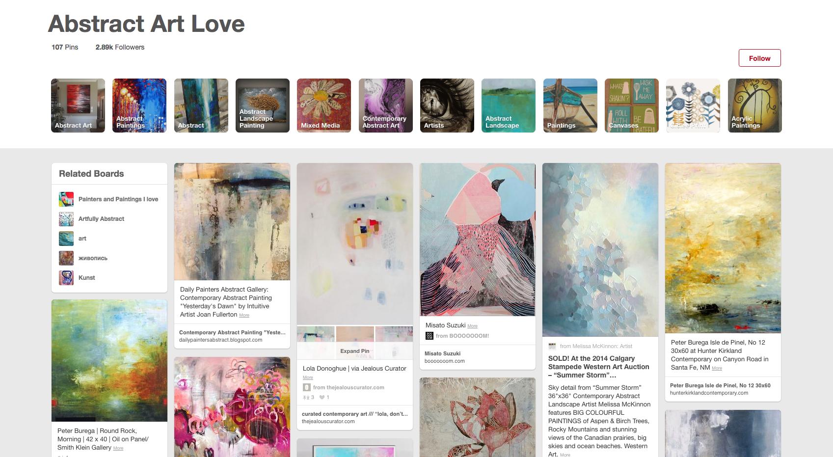 Abstract Art Love
