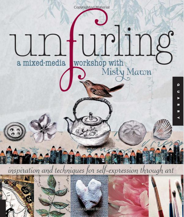 unfurling a mixed media workshop with misty maun