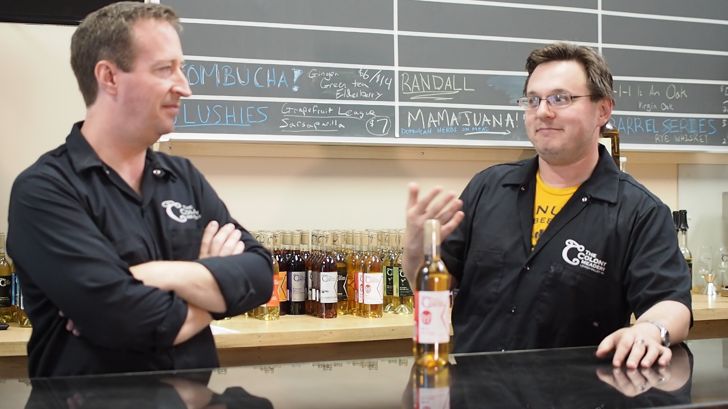 Mike Manning, left, and Greg Heller-LaBelle will be on hand to answer your mead question while also weaving you through mead's grand history.
