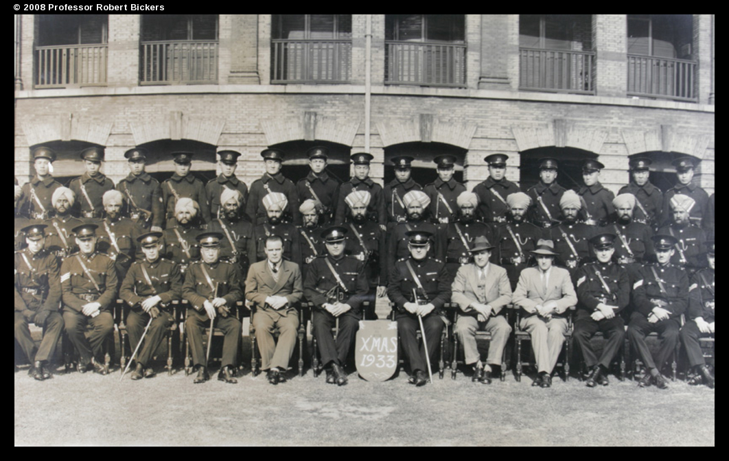 A shot of the police form one station, probably taken for a Christmas card.