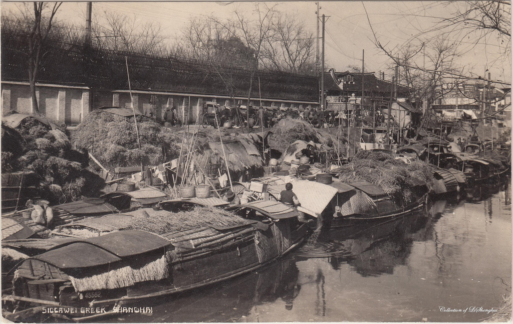 Old Xujiahui. The creek has now been filled to make a road.