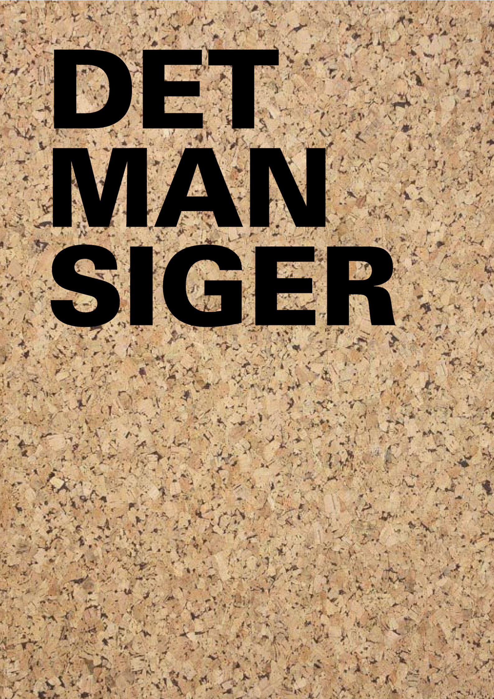 DET MAN SIGER - KONCEPT