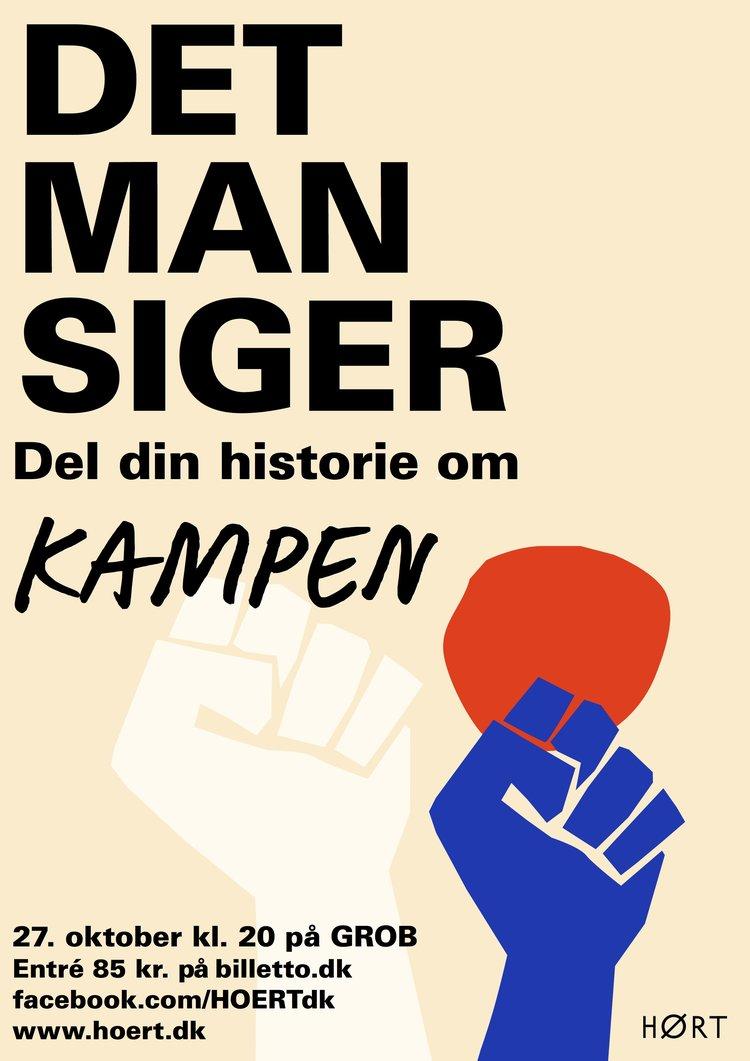 DET MAN SIGER - KAMPEN