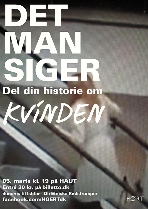 DET MAN SIGER - KVINDEN